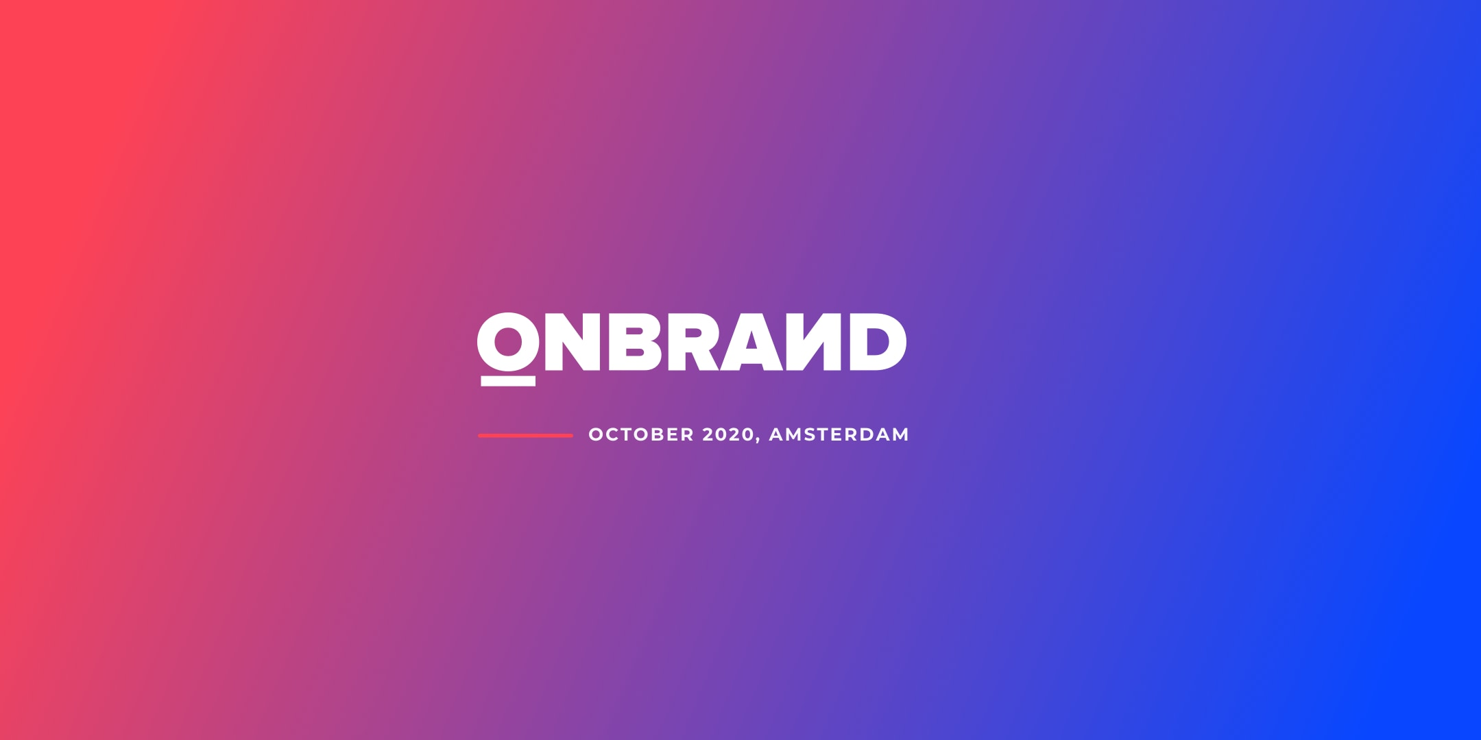 Europe's leading branding conference - OnBrand '19